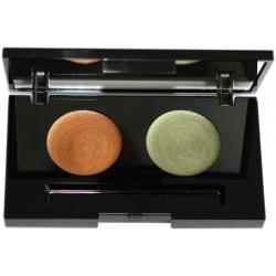 Vitual velvet rock Creamy Eyeshadows - Pearly rock & Black metallic