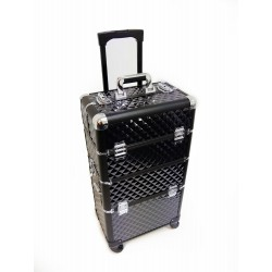 Luxury duo black pvc trolley
