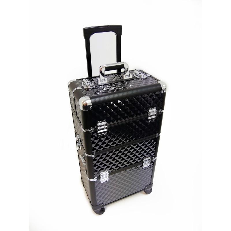 Luxury duo black pvc trolley