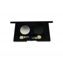 Palette 2 ombres à paupières Noir - Blanc 2 x 2g (sans étui)