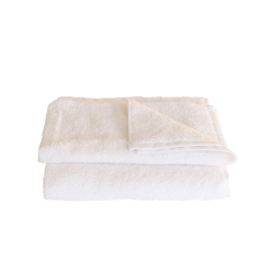 Serviette éponge blanche 30x50