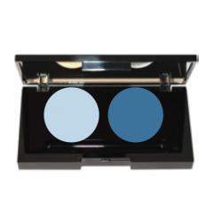 Palette 2 ombres à paupières Marron - Beige 2 x 2g (sans étui)