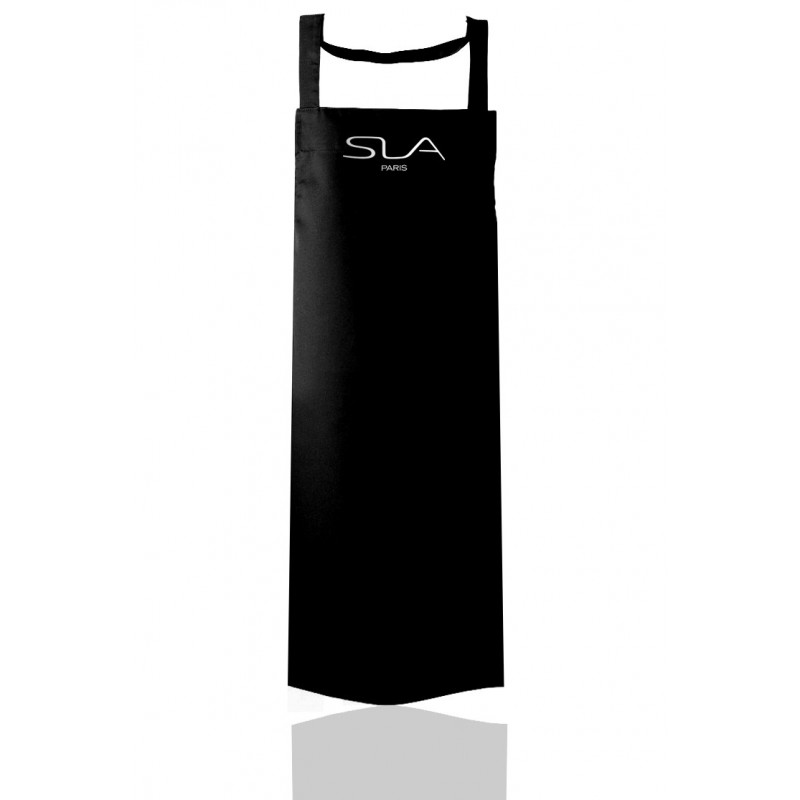 Black apron with removable pocket