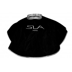 Silver & black reversible cape