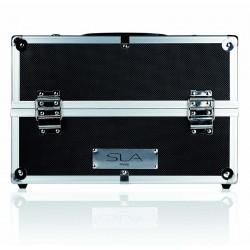 Empty aluminium black pro case